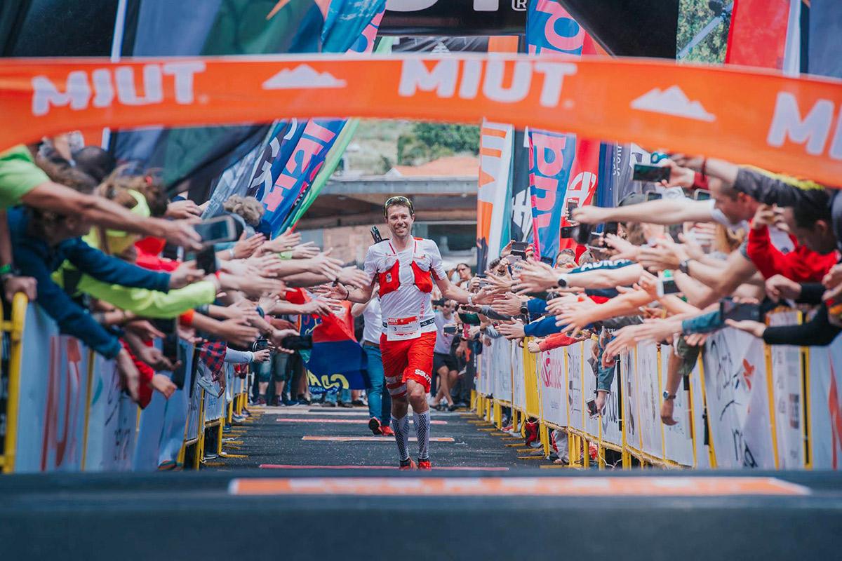 François d'Haene arrivant victorieux au MIUT 2019