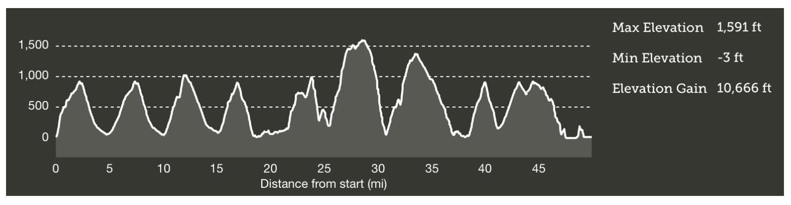 Profil du TNF Endurance Challenge
