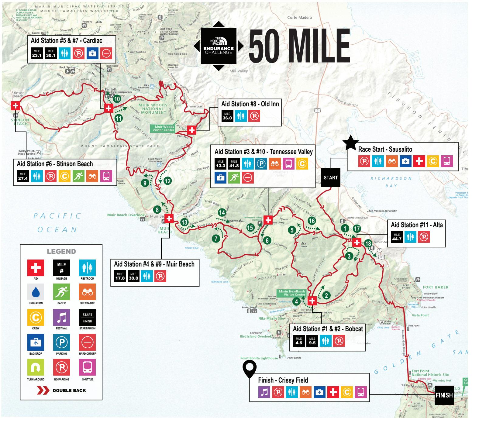 Parcours TNF Endurance Challenge